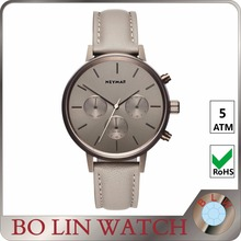 77738 2017 customize logo printed leather strap mens watch, japan movement 2 years guarantee watches men