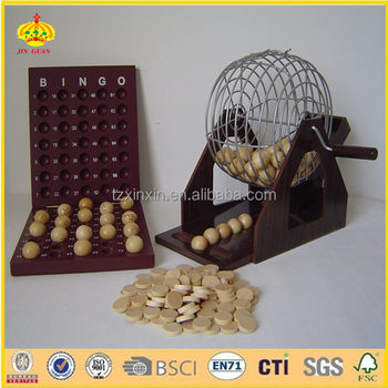 bingo ball set wooden bingo
