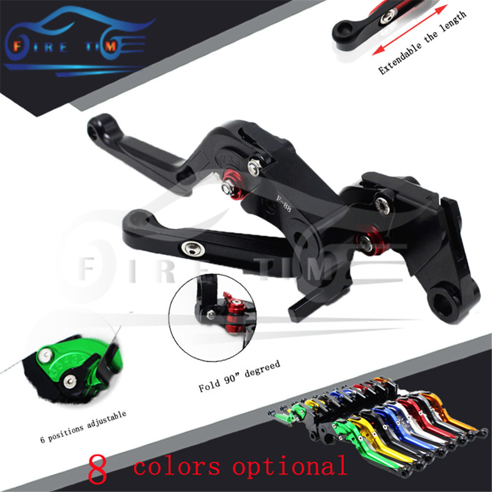 hot sale motorcycle aluminum brake clutch lever black cnc foldable extendable brake clutch levers FOR KAWASAKI ZZR600 2005-2009