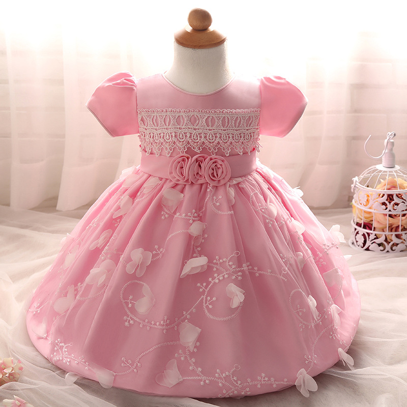 2017 New Designs Baby Dress Girls Short Sleeve Laced Infant Dress ...