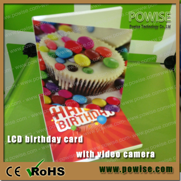 2.8inch Video Birthday Card With Camera/lcd Video Mailer/ Lcd ...