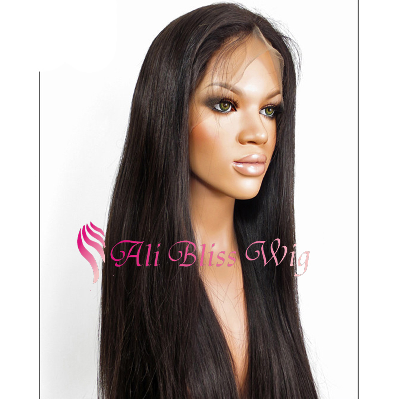 Buy Brazilian Virgin Natural Straight Full Lace Wigs High Quality Human  Hair Lace Front Wigs With Baby Hair Cheap Human Hair Wigs in Cheap Price on  ... 5ab271de3