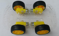 4wd Smart car kit car chassis 4 drive intelligent electronic smart car chassis