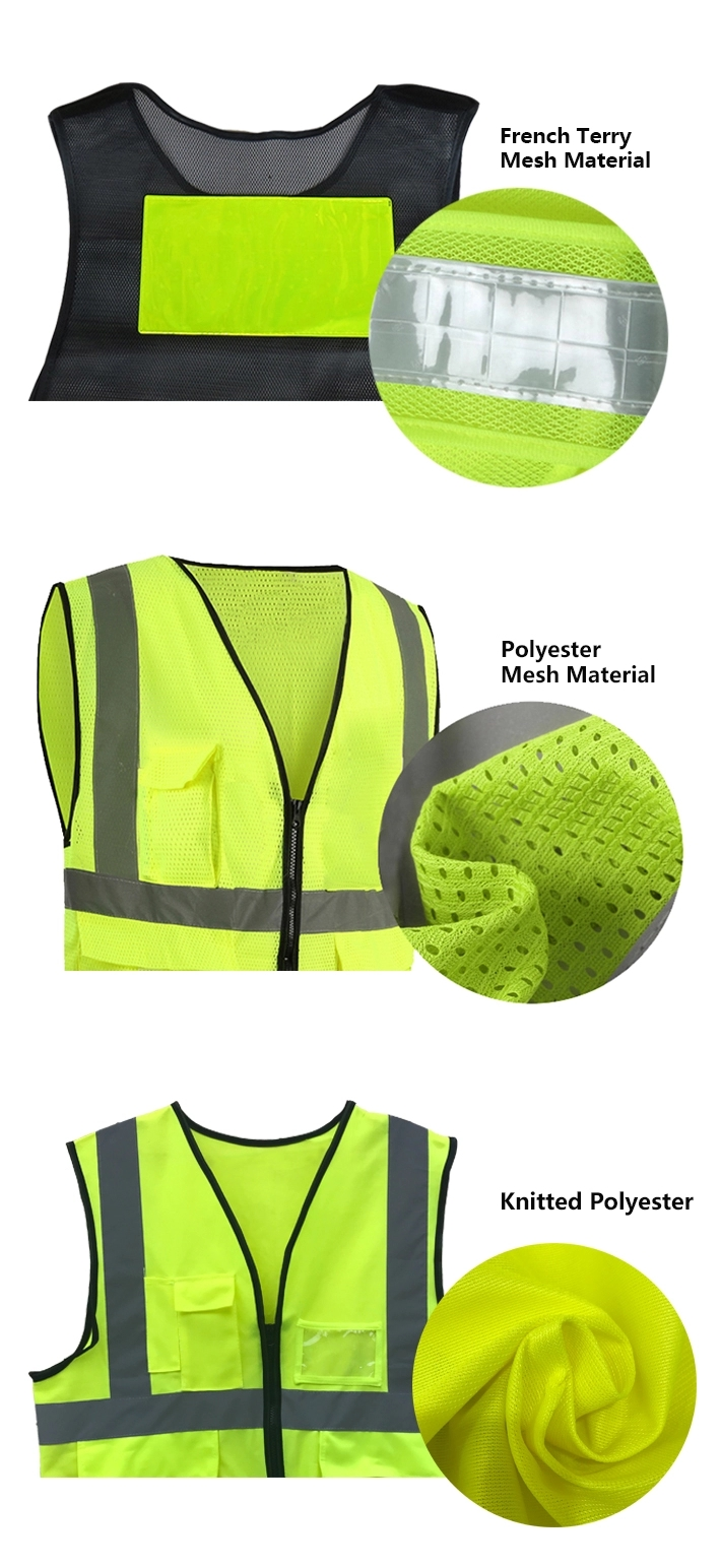 48 Hours Delivery Green Color 100 Cotton Safety Vest