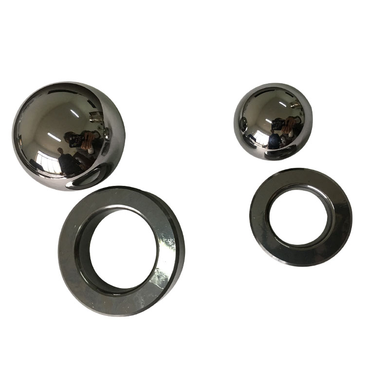 Polished tungsten shot carbide ball weights for bearing