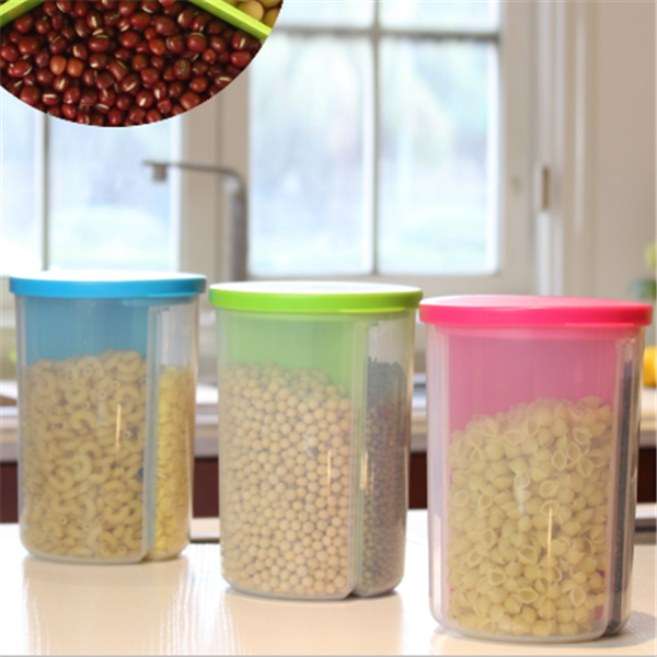 manufacturer creative plastic sealing food storage box/3 compartments dry cereal storage container with lid & Manufacturer Creative Plastic Sealing Food Storage Box/3 ... Aboutintivar.Com