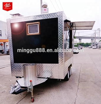 China Factory Roll Fried Ice Cream Machine Food Cart