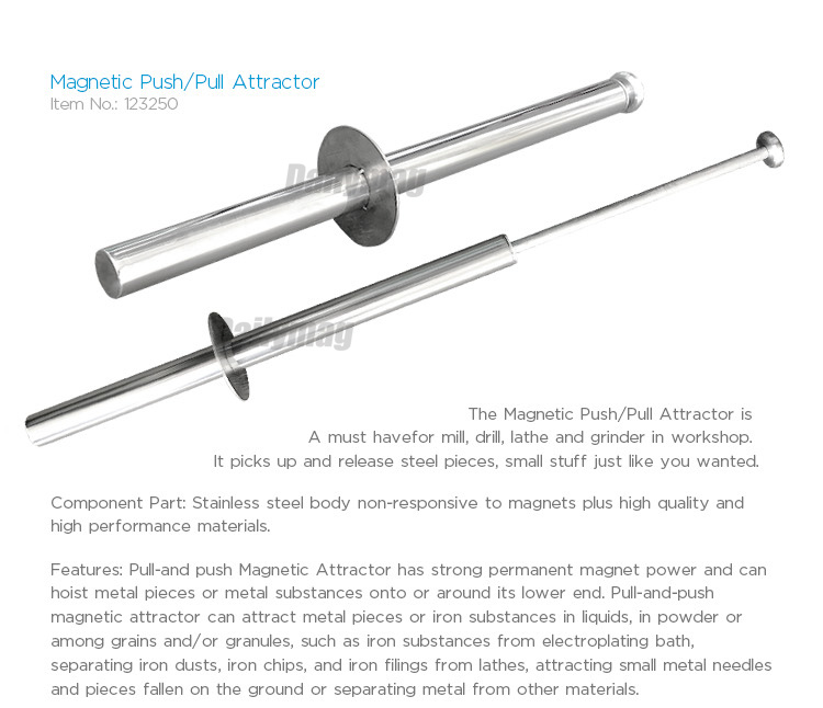 "16""/40cm length Great Stainless Magnetic Bulk Attractor/Push-Pull Attractor Magnetic Retrieving Baton with Release Handle"