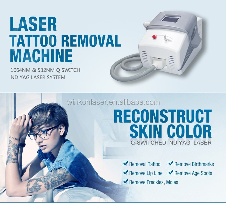 Nd yag laser handpiece tattoo machine tattoo removal for How much is a tattoo removal machine