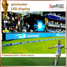 High Definition Big Outdoor Full Color P6 Football Sport Stadium LED Perimeter Display Screen banner board