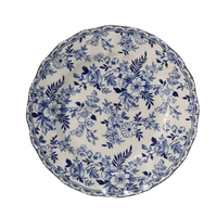 Wholesale Flower Plate Blue and White Porcelain Dinner Plate sets for Promotion