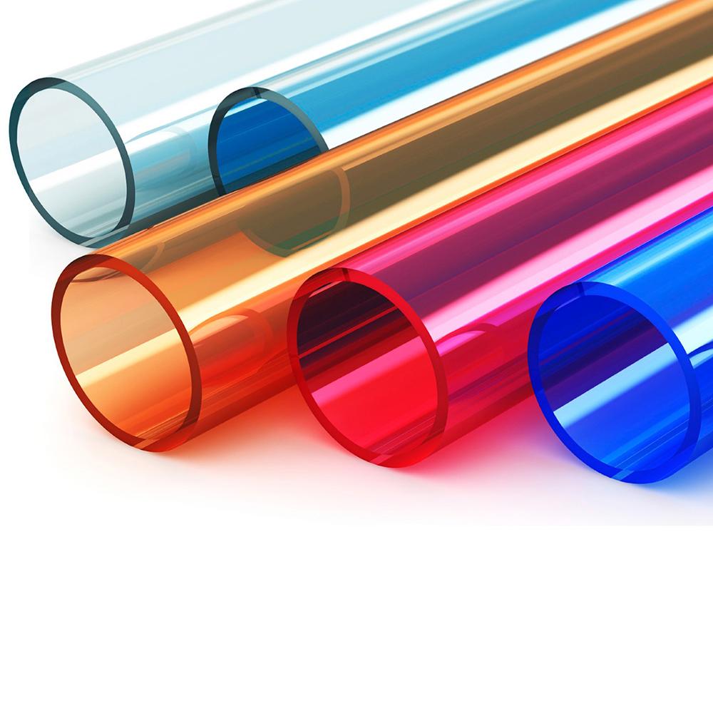 акриловые трубы разного цвета