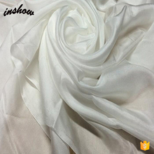 Super September Nature Plain White 100% Real Silk Scarf for Painting