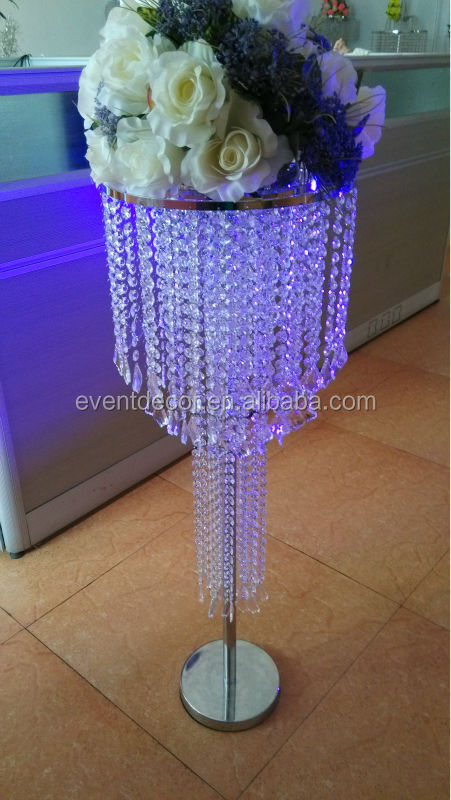 Amazing wedding crystal chandelier table centerpieces