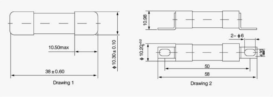 10X38 1000VDC  drawing1