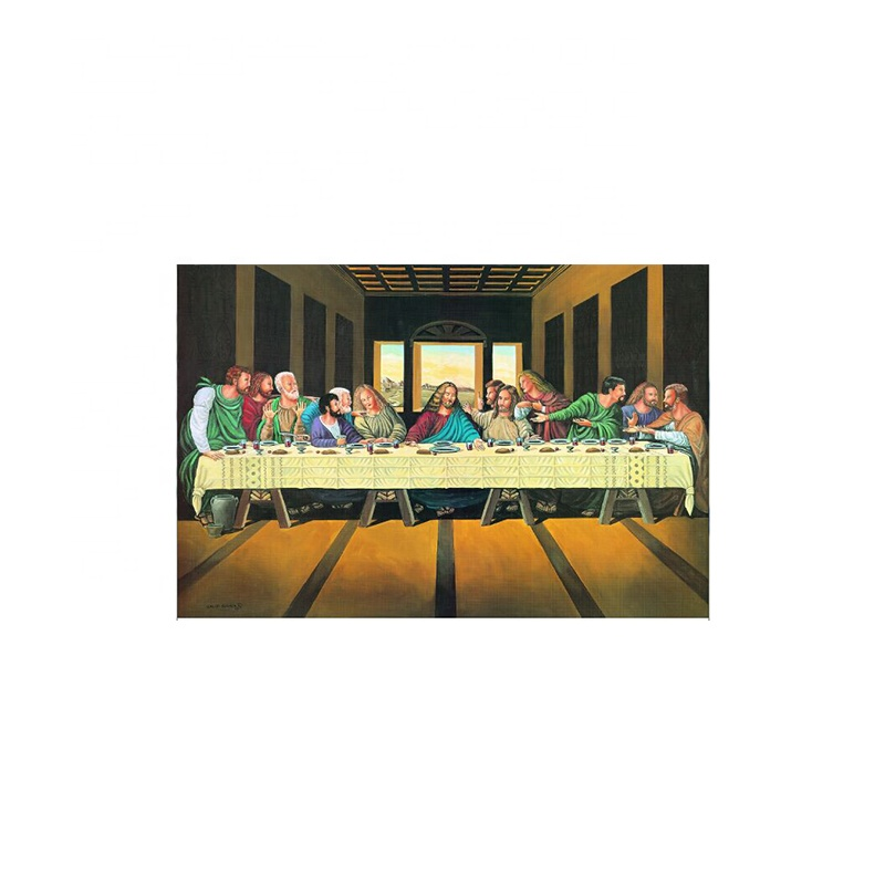 30x40 ซม. Stocked the last supper 3d lenticular picture สำหรับโปรโมชั่น