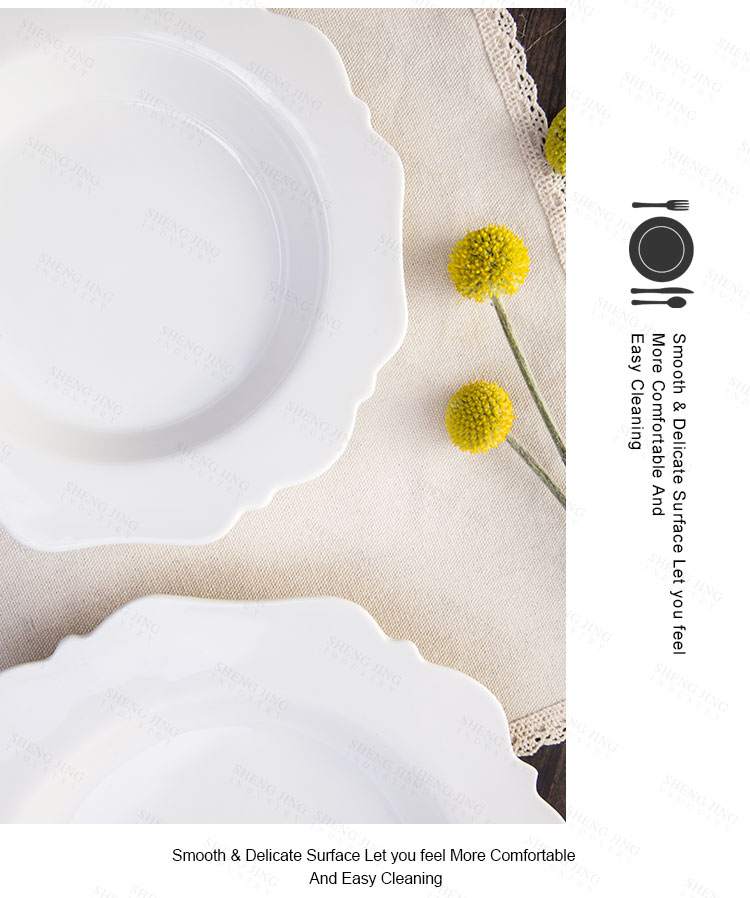 Custom Flower Shape Ceramic Dinner Plates Deep Round Plate For Wedding/  Party/ Theme Restaurant - Buy Plate,Deep Round Plate,Cheap Ceramic Dinner