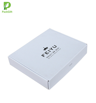 White Custom Printed Packaging Foldable Cardboard Corrugated Mailer Boxes For Clothes
