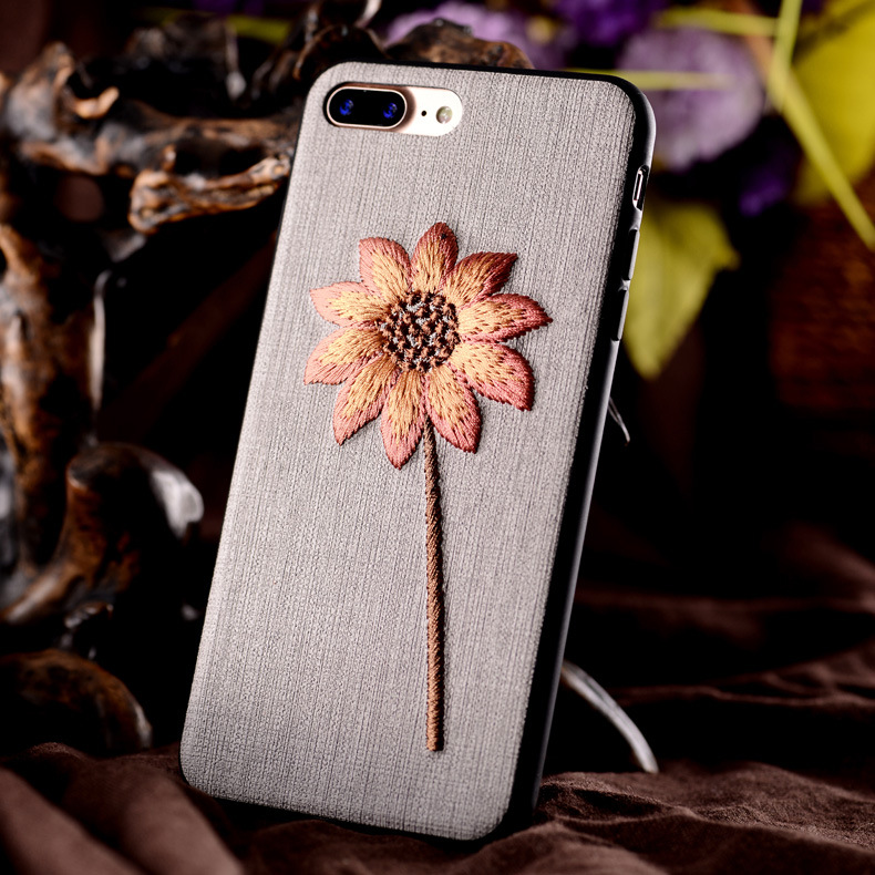 Hot sale cute flowers Small pure and fresh phone case for iphone 6 7