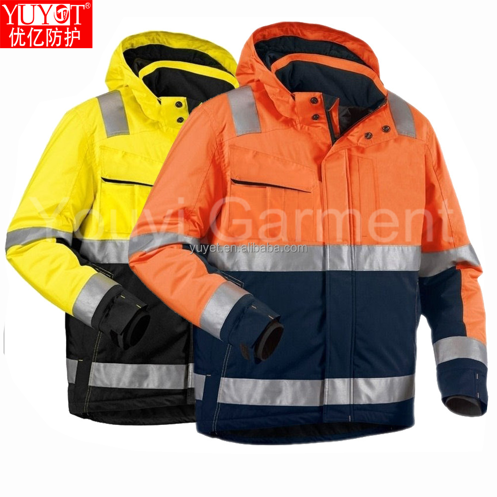 Factoray On Sales Cheap Long Sleeves Twill Industry Workwear Construction Jackets Durable Service Workplace Safety Supplies Safety Clothing