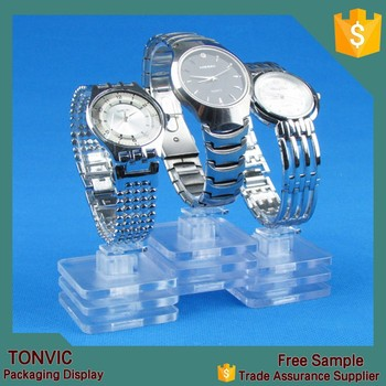 Clear Acrylic Plastic C Ring Watch Display Stand Holder Factory ...