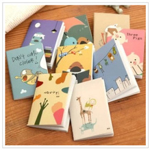 Creative memo pad notebook lovely Cartoon mini notebook notepad paper book  Z239-BJB