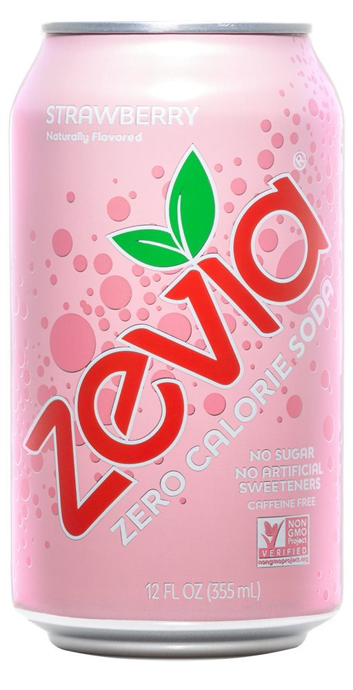 Zevia Zero Calorie Soda, Strawberry, Naturally Sweetened Soda,12 Ounce Cans; Strawberry-flavored Carbonated Soda; Refreshing and Full of Flavor with Delicious Natural Sweetness (Pack of 24)