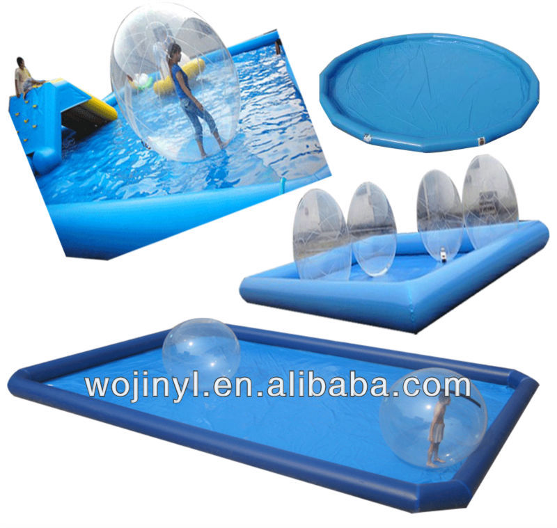Children amusement park outdoor water pool / <strong>inflatable</strong> swimming pool