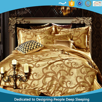 New classic Density 133*72 100% polyester 40S washable satin bedding set for all season