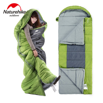 Naturehike Envelope Campin Sleeping Bag With Hood F400 Standards Ultraportability Wild Camping