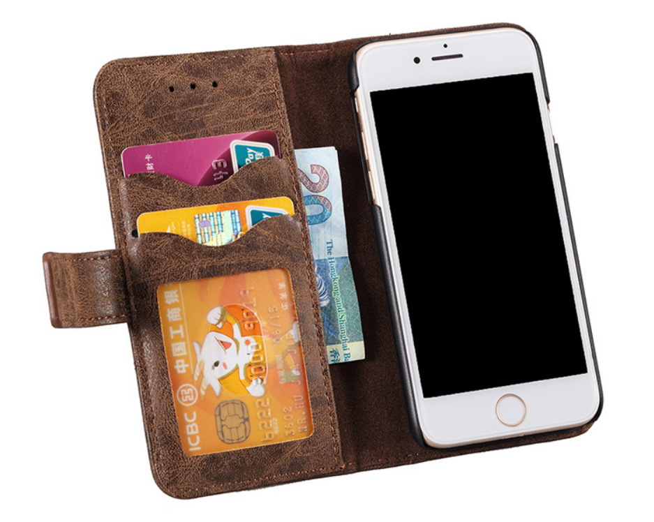 buy popular 194a8 5c55d Wallet Leather Phone Case For Iphone Magnetic Credit Card Phone Cover For  Apple With Stand Phone Protecter With Pocket - Buy Mobile Phone Leather ...