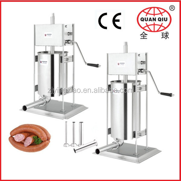 Stainless steel hand operated sausage stuffing machine for househand made in China