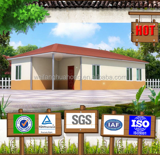 Competive! nice design prefabricated house for france with foamed cement board