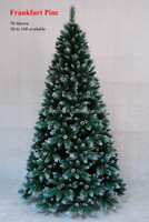 the best seller thick PVC mixed artificial christmas tree 7ft,christmas gifts,christmas tree with snow