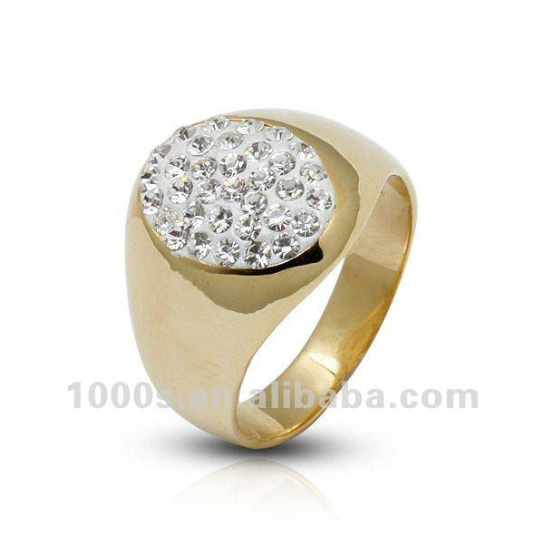 Hot Crystal Gold Ring Designs For Men swr0028 2 Buy Gold Ring