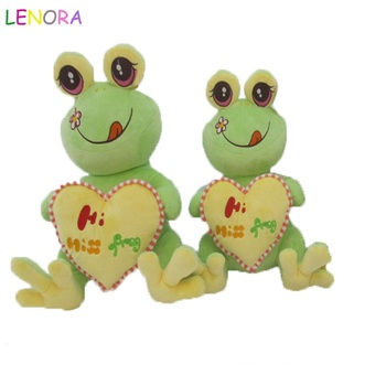 Giant Stuffed Frog 48 Inch Soft 4 Foot Plush Animal Heart On Chest