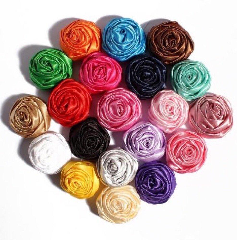 Buy Supadeals Novelty Artificial Soft Satin Ribbon Rolled Rose