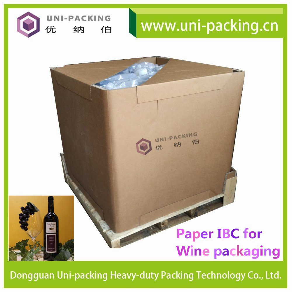 1000L Liquid Packaging IBC Tank with Ball Valve Paper IBC <strong>Container</strong>