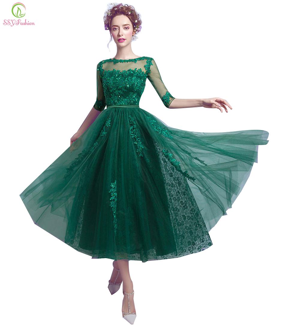 Ssyfashion Long Sleeve Wedding Dresses The Bride Elegant: Aliexpress.com : Buy SSYFashion New Evening Dress Bride