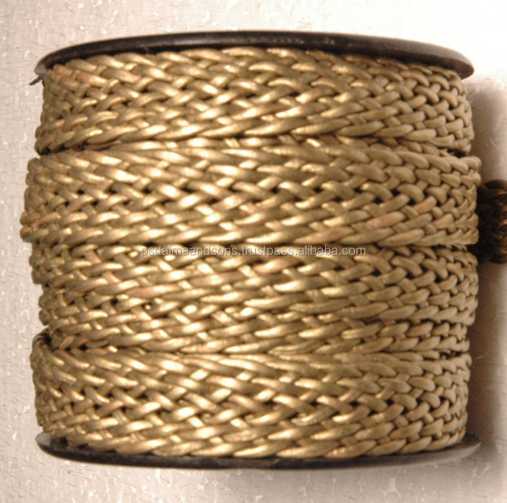 Round Leather Cord Square 8 Ply * 1cord & Twisted Braided