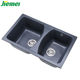 Factory wholesale hot sale italian double quartz kitchen sink undermount