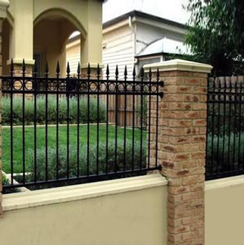 2017 Modern Residential Wrought Iron Fence Design