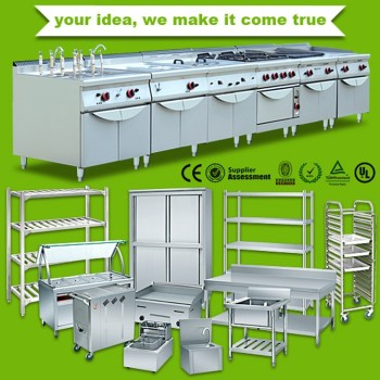 Premium fast food restaurant equipment stainless steel for Kitchen set restoran