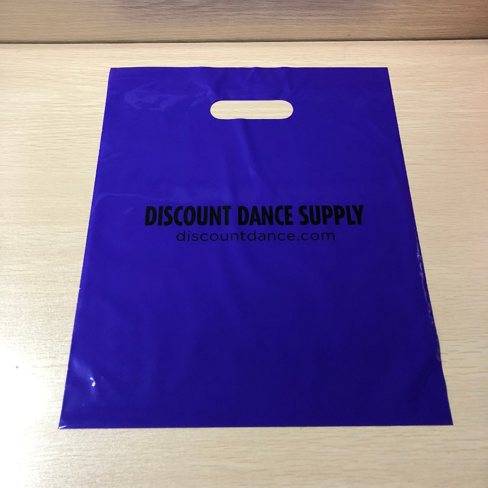 Custom own logo shopping bag full printing / plastic die cut Ldpe shopping bag