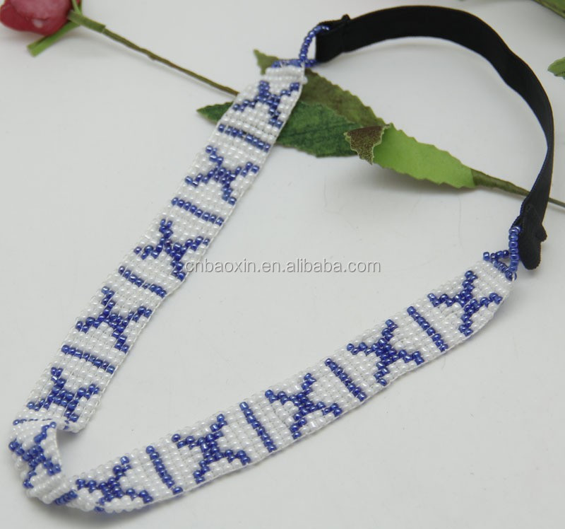 "Customized Elastic Fashion"" X ""Shape Seed Beads Hair Band"