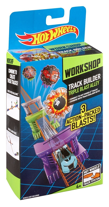 Hot Wheels Track Builder Triple Blast Alley Stunt Pack