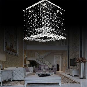 Full Lead Modern Crystal Chandeliers Lighting Pendant Hanging Lamps For Home And Hotel Decoration