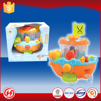 New quality best sold colorful floating pirate ship baby plastic toy to kids