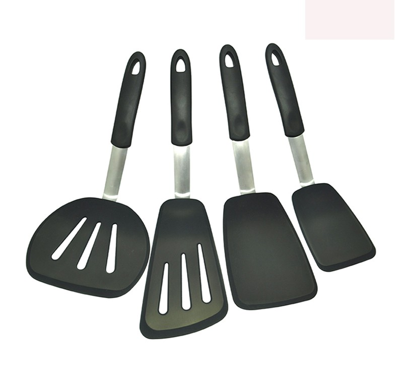 4 unids silicona resistente al calor utensilios de cocina - Espatula plastico cocina ...