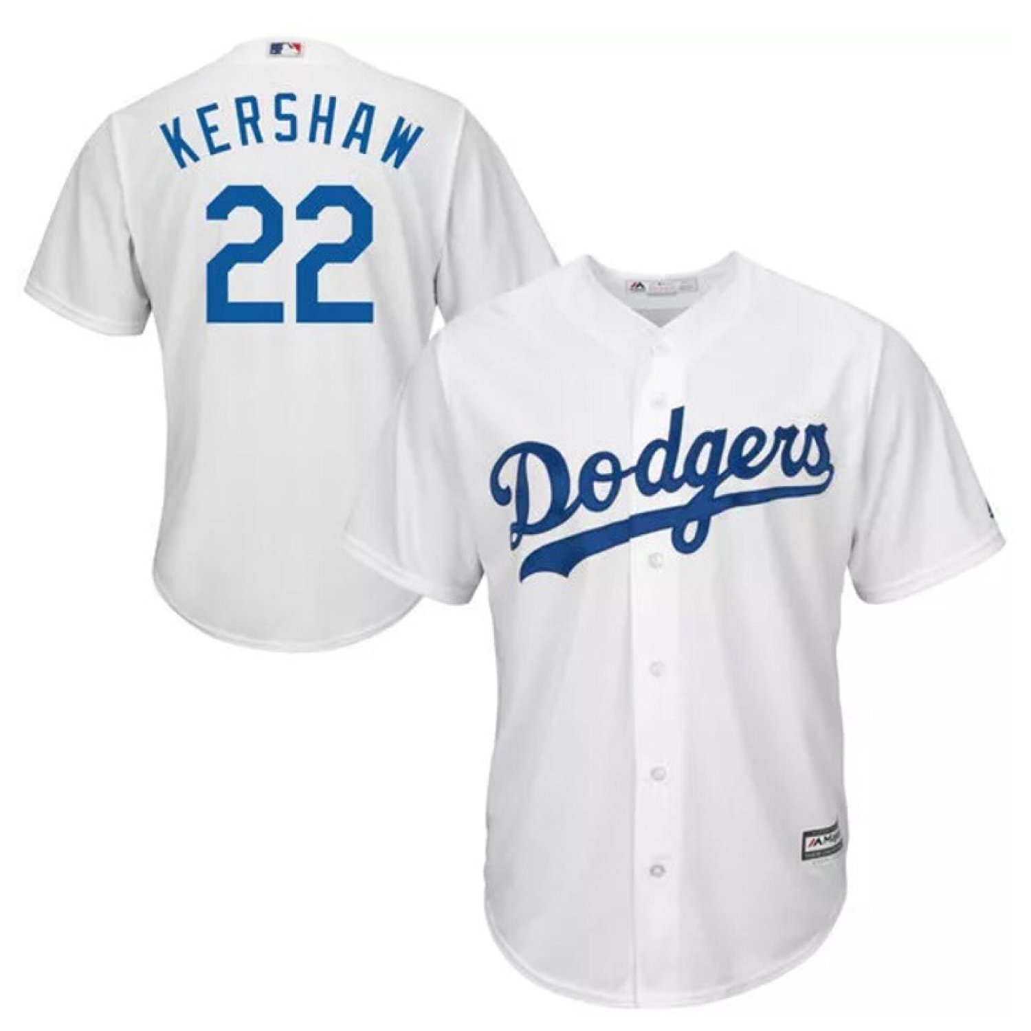 9fb01a2ff Get Quotations · Clayton Kershaw Los Angeles Dodgers  22 MLB Youth Cool  Base Home White Jersey Size Small